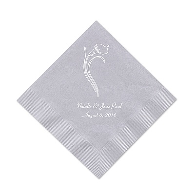 Silver Cocktail Napkin