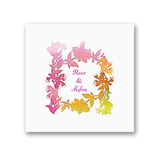 Watercolor Shades - Fuchsia - White Dinner Napkin