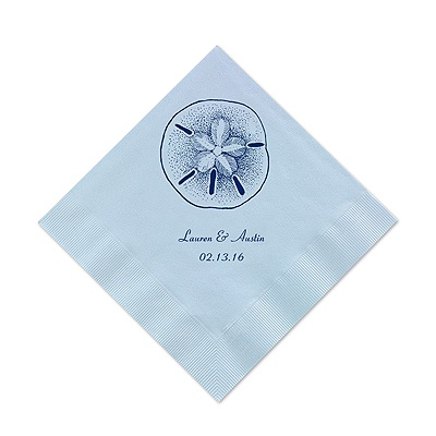 Pastel Blue Cocktail Napkin