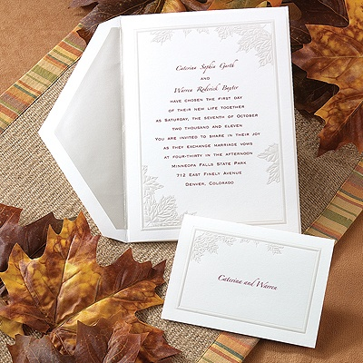 Autumn Leaves - Invitation