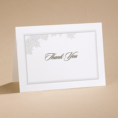 Autumn Leaves - Thank You Card with Verse and Envelope