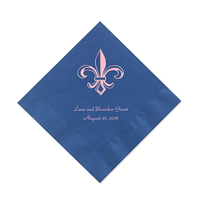 Royal Blue Cocktail Napkin