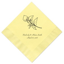 Pastel Yellow Dinner Napkin