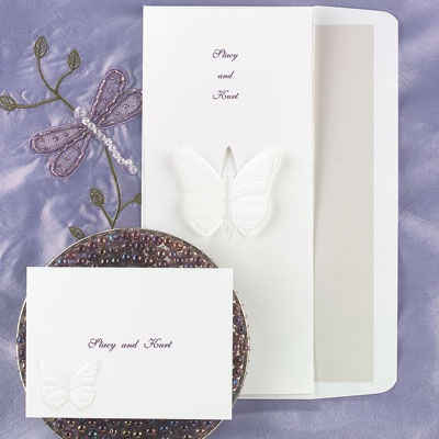 Butterfly Kisses - Invitation