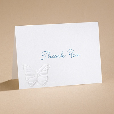 Butterfly Kisses - Thank You Card With Verse And Envelope