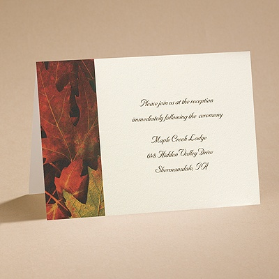 Autumn Splendor - Reception Card