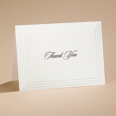 Timeless - Ecru Thank You Card and Envelope