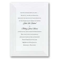 Timeless - White Invitation