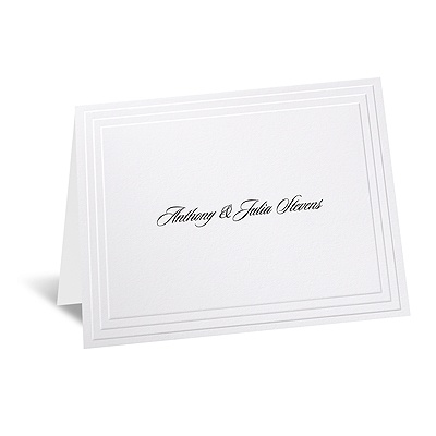 Timeless - White Informal Card and Envelope