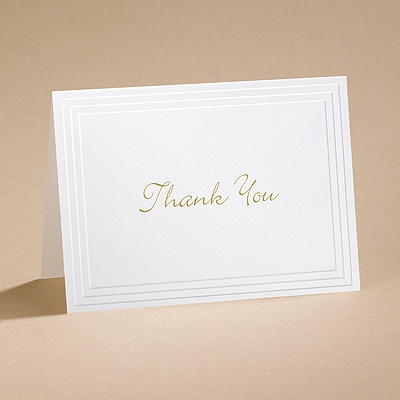 Timeless - White Thank You Card and Envelope