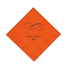 Orange Cocktail Napkin
