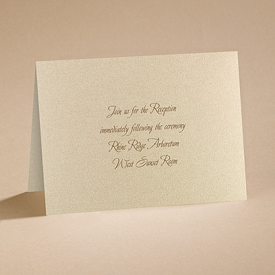 Natural Embrace - Reception Card