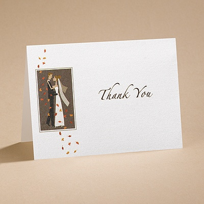Autumn Breeze - Thank You Card And Envelope