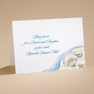 Sandy Paradise  - Reception Card