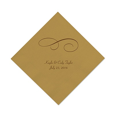 Gold Cocktail Napkin