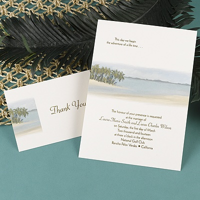 Beach Setting - Invitation