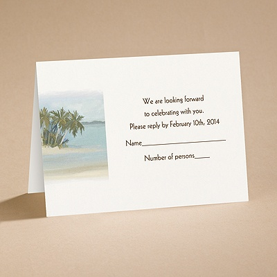 Beach Setting - Respond Card and Envelope