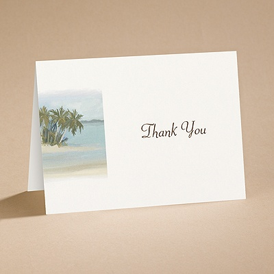 Beach Setting - Thank You Card with Verse and Envelope
