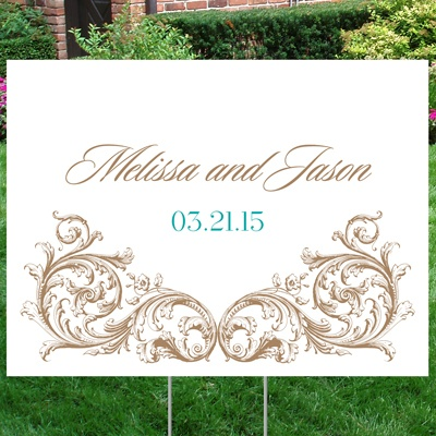 Fancy Filigree Yard Sign - Medium