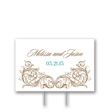 Fancy Filigree Yard Sign - Small