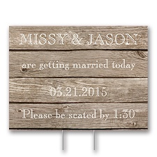 Wood Grain Yard Sign - Medium
