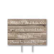 Wood Grain Yard Sign - Small