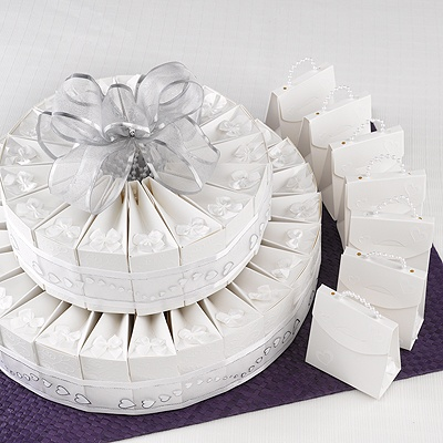 Wedding Favor Kits on Home    Wedding Reception Accessories    Favors    Cake Favor Box Kit