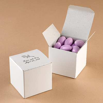 Glossy White Favor Box