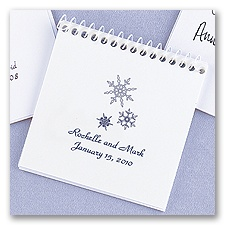 White Spiral Notepad Favors
