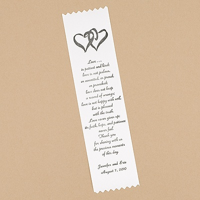 Personalized Thank You Ribbon - White