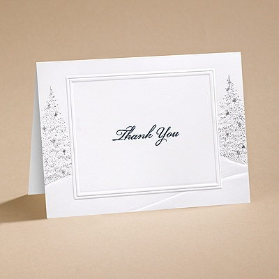 Wedding Wonderland - Thank You Card with Verse and Envelope
