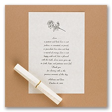 White Parchment Deckle Edge Scrolls