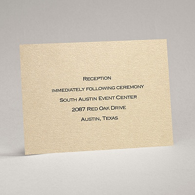 Gold Shimmer - Reception Card