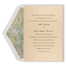 Gold Floral - Invitation