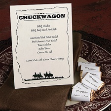 Wanted! Style Chuckwagon Menu Card