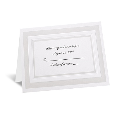 Satin Touch - Respond Card and Envelope