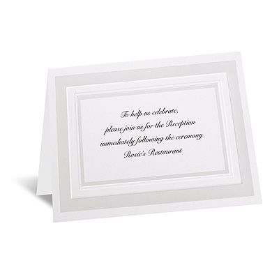 Satin Touch - Reception Card