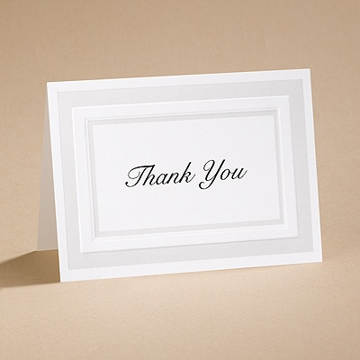 Satin Touch - Thank You Card and Envelope