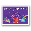 Crazy Confetti Birthday Postcard