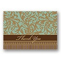 Damask Thank You Postcard