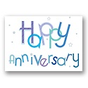 Happy Jumble Anniversary Postcard