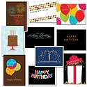 Festive Birthday Card Assortment - 50 Cards