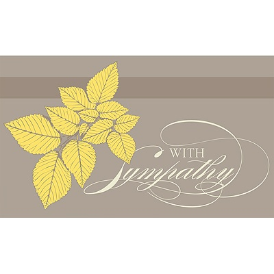 Naturally Caring Sympathy Card