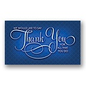 True Blue Thank You Card