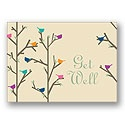Recycled Get Well Birds Card - Verse Only