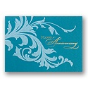 Flourish in Teal Card