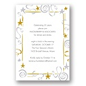 Gold Star Party Invitation