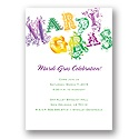 Mardi Gras! Party Invitation