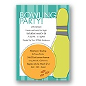 Let's Bowl! Party Invitation