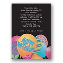 Birthday Bash Balloons Party Invitation